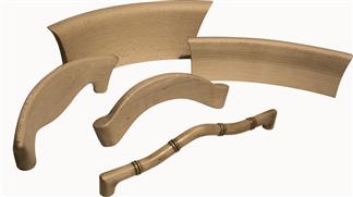 schienali sedie in legno